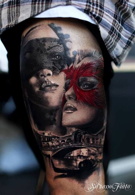 tattoo animal mask masquerade mask over venice tattoo hot tattoos pinterest