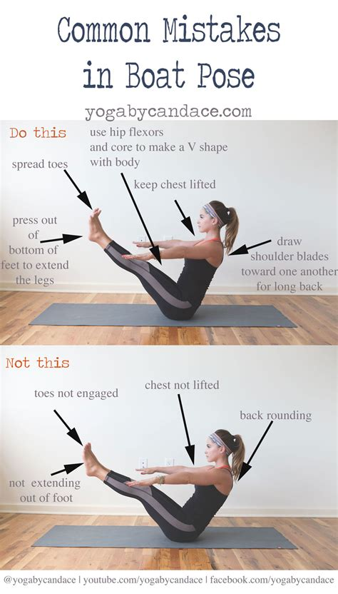 Common Mistakes in Boat Pose ? YOGABYCANDACE