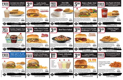 printable job application for steak and shake new steak n shake coupons b1g1 free meals 1 off shakes