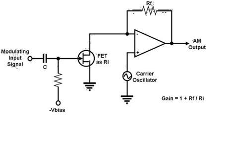 Am Modulation And Demodulation Using Multiplier Ic Circuit Diagram radio am modulator mixer circuit electrical