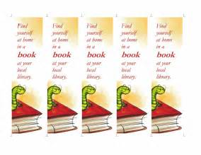 bookworm bookmark template library bookmarks 5 per page office templates