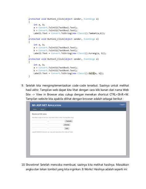 modul tutorial adalah modul tutorial membuat class pada visual studio 2010