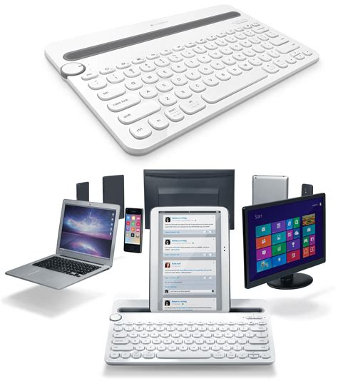 Bluetooth Keyboard Logitech K480 Multi Device logitech bluetooth multi device keyboard k480 for computers tablets and smartphones white 920