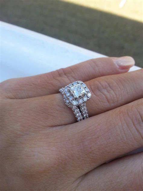 how should wedding rings and engagement rings be worn 15 photo of wedding band to go with princess cut