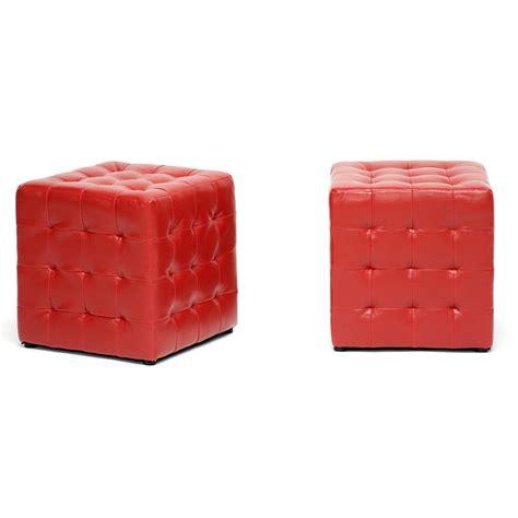 Modern Cube Ottoman Baxton Studio Siskal Modern Cube Ottoman Living Room Furniture Affordable Modern