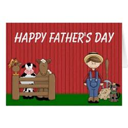 farmer barn happy s day greeting card zazzle