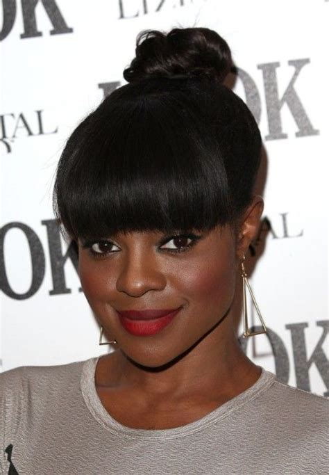 southafrican black hairstyles pony tails with fringe 1000 images about ponytails on pinterest pony tails