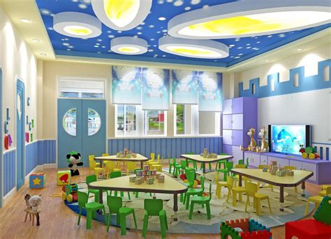 Painting Designs For Home Interiors by 3d Interior Kindergarten Classroom 3d House Free 3d House Pictures And Wallpaper