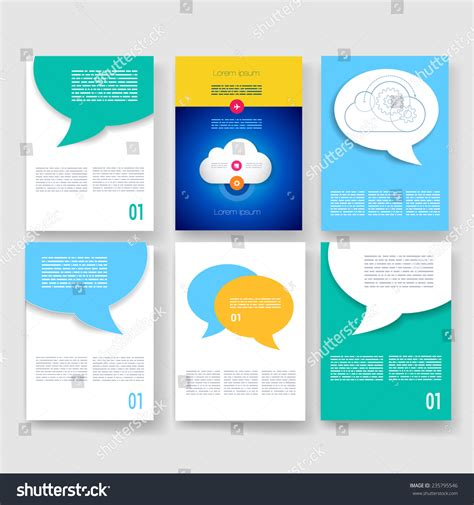 brochure design templates collection layout free vector in vector brochure design templates collection ad stock