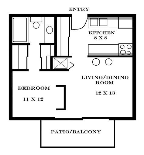 1 Room Studio Apartment Floor Plan - small apartment floor plans one bedroom floor plans and