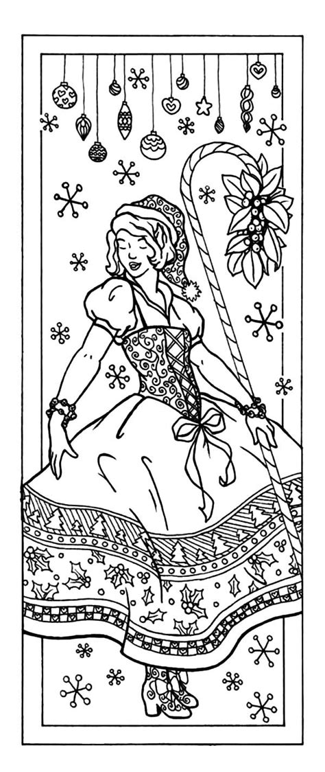printable christmas bookmarks to color free coloring pages of book marks