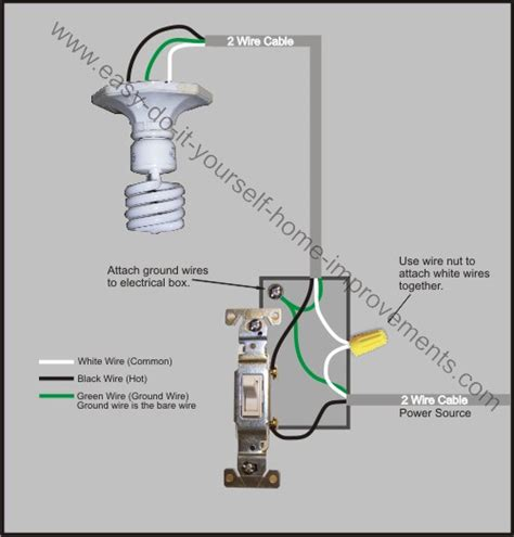 how to wire a house light light switch wiring diagram