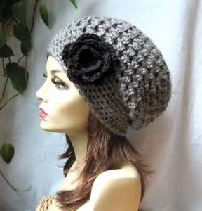 Items similar to crochet beret womens hat slouchy beret charcoal