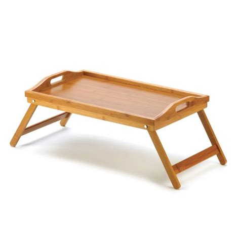bed tv table bamboo serving tray folding desk table laptop