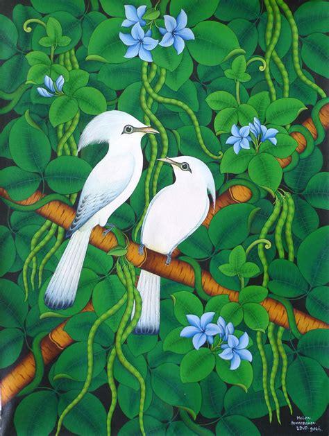 Batik Painting Burung Hantu vhaedyoverste seni lukis burung bali