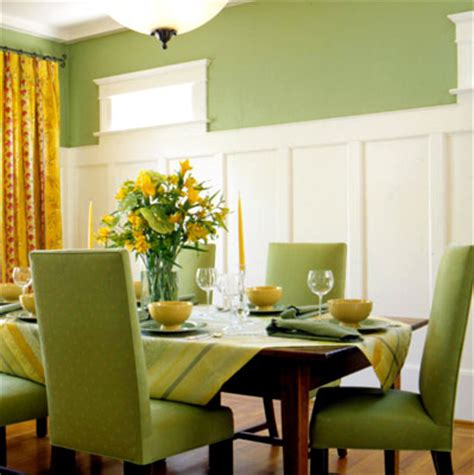 Green Themed Dining Room Home Design Tips Adding Character With Millwork