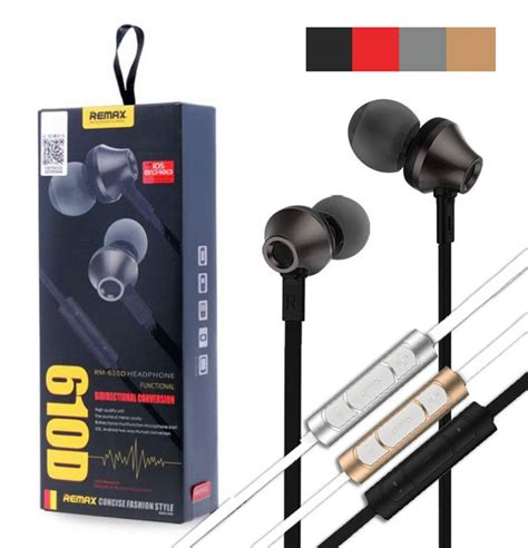 Remax Earphone Rm 535i original remax rm 610d headphones black