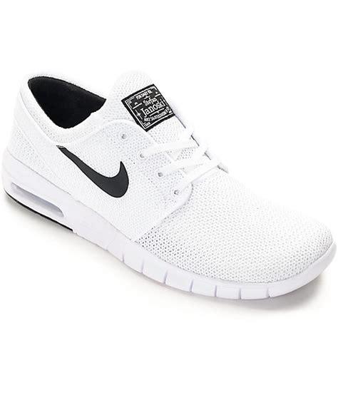 nike sandals white nike sb stefan janoski air max white white shoes zumiez