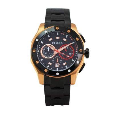 Bonia Bpt188 1532c Black Gold harga bonia bpt188 1532c black jam tangan pria pricenia