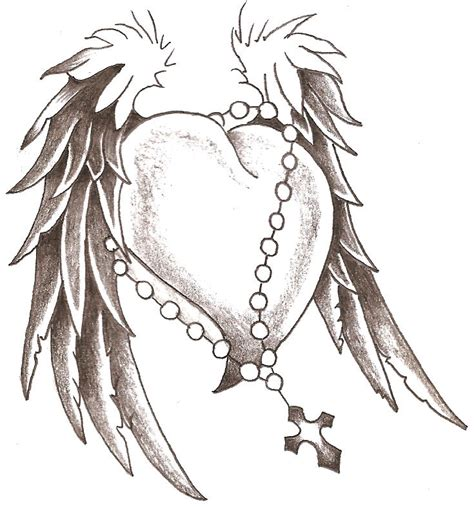 free drawings of hearts with banners download free clip