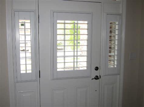 Front Door Shutters Entry Door Sidelight Window Shutters Cleveland Shutters