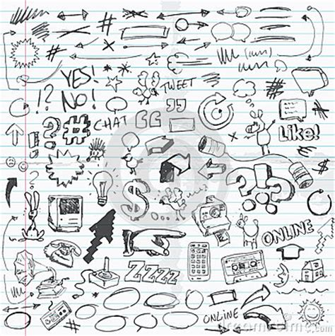 doodle sketch free doodles royalty free stock images image 36382649