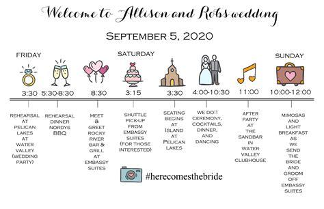 Wedding Weekend Timeline Template by Wedding Timeline Images Wedding Dress Decoration And