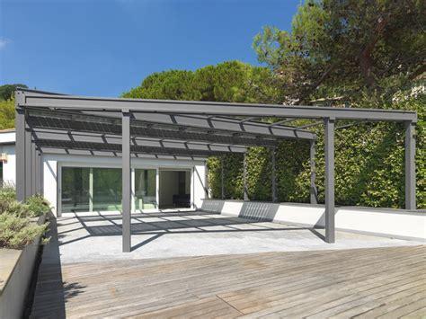 veranda fotovoltaica veranda fotovoltaica in acciaio inox veranda con vetri