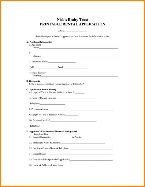 free printable rental agreement template 8 free printable lease agreement template farmer resume