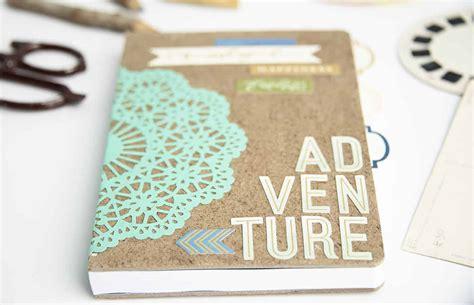 diy idea adventure themed diy notebook gift mod podge rocks