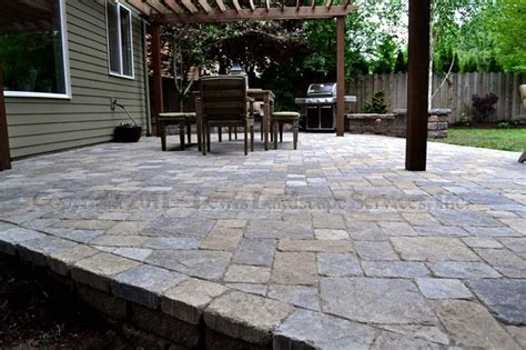 Paver Patio Images Paver Patio Pergola Pit Seat Wall Lighting Contemporary Patio Portland By Lewis