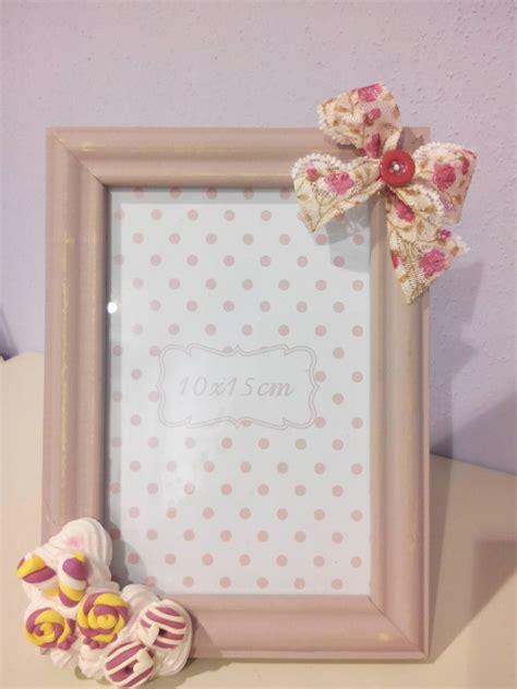 cornici fimo cornice rosa decorata in fimo per la casa e per te