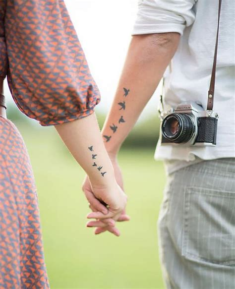 couple arm tattoos 32 matching designs for couples