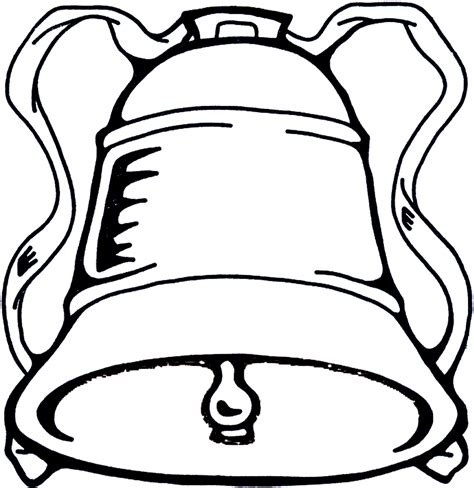 line drawing christmas clip art bell image the graphics