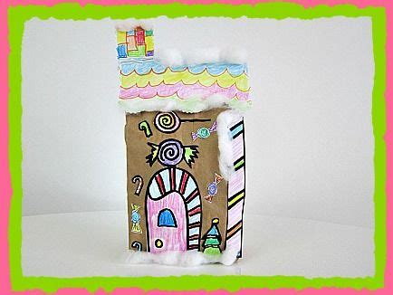 Paper Bag Gingerbread House Craft - pin by boccella smith on bulletin board and school