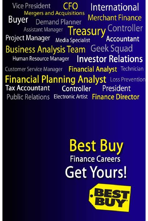 Best With A Finance Mba by Best Buy Finance Mba Recruiting Brochure