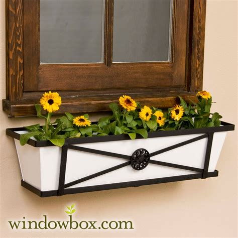 Iron Window Box Planters by 60 Quot Medallion Tapered Iron Window Box 60 Quot Window Boxes