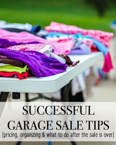 successful garage sale tips for beginners and pro garage