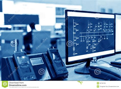Plant Controller by Modern Plant Room Stock Image Image Of Keyboard 30766765