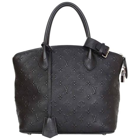 louis vuitton black leather monogram lockit revaluation