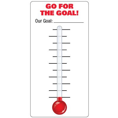 excel goal tracking thermometer autos post