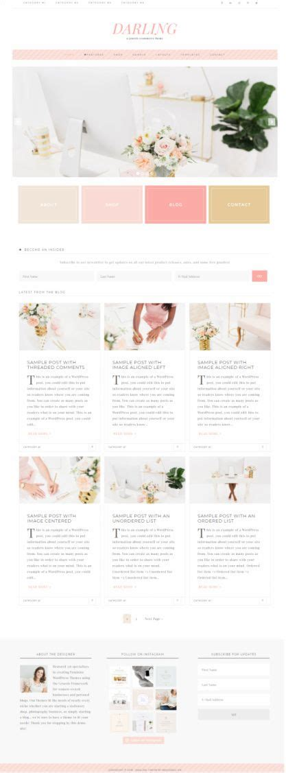 blog theme genesis darling review restored 316 blog theme reality