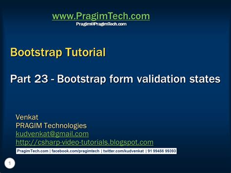 tutorial bootstrap validation sql server net and c video tutorial bootstrap form