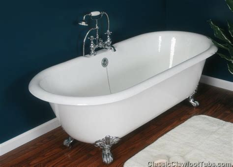 claw footed bathtubs 67 quot cast iron double ended clawfoot tub classic clawfoot tub