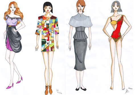 gambar desain clothing design murid illustration kursus tata busana wiwi