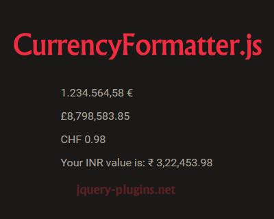 format currency with javascript currencyformatter js super simple currency formatting