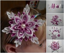 Diy flowers with ribbon
