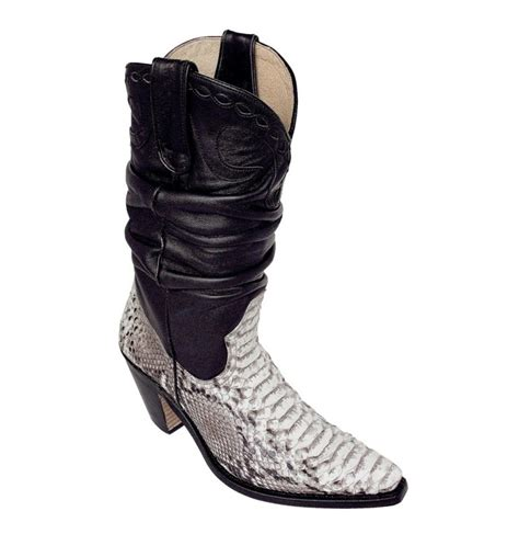 made to measure black and white snakeskin cowboy boots for