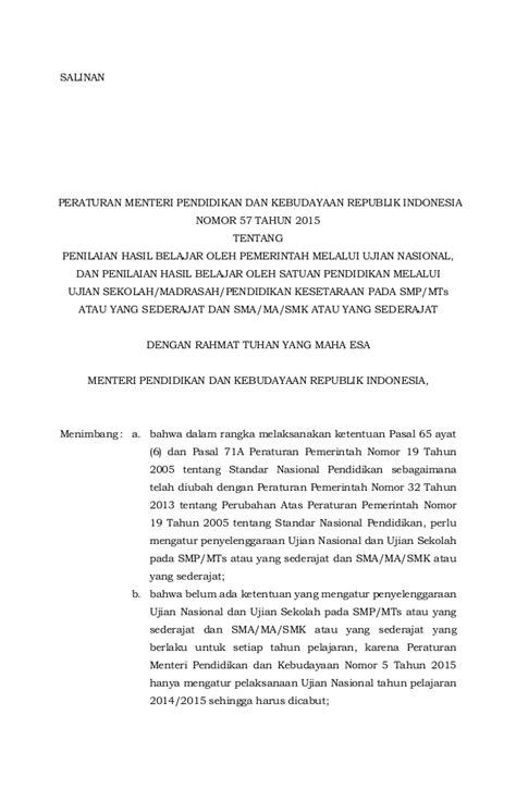 permendikbud no 5 tahun 2015 permendikbud no 57 tahun 2015