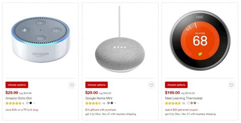 smart items for home black friday 2017 tech deals live updates amazon echo dot google home mini indoor security